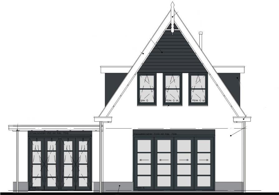 stikstofonderzoek voorbeeldplan tekening woning